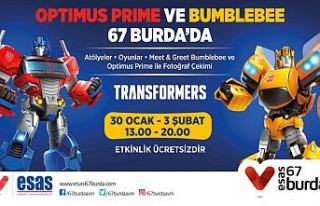 Optimus Prime ve Bumblebee 67 Burda'da